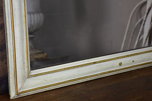 RESERVED - Very large antique French bistro mirror with pained brass frame
