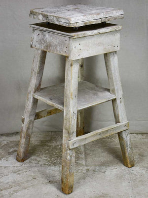 19th Century French sculptor's table with turning top 41¼""