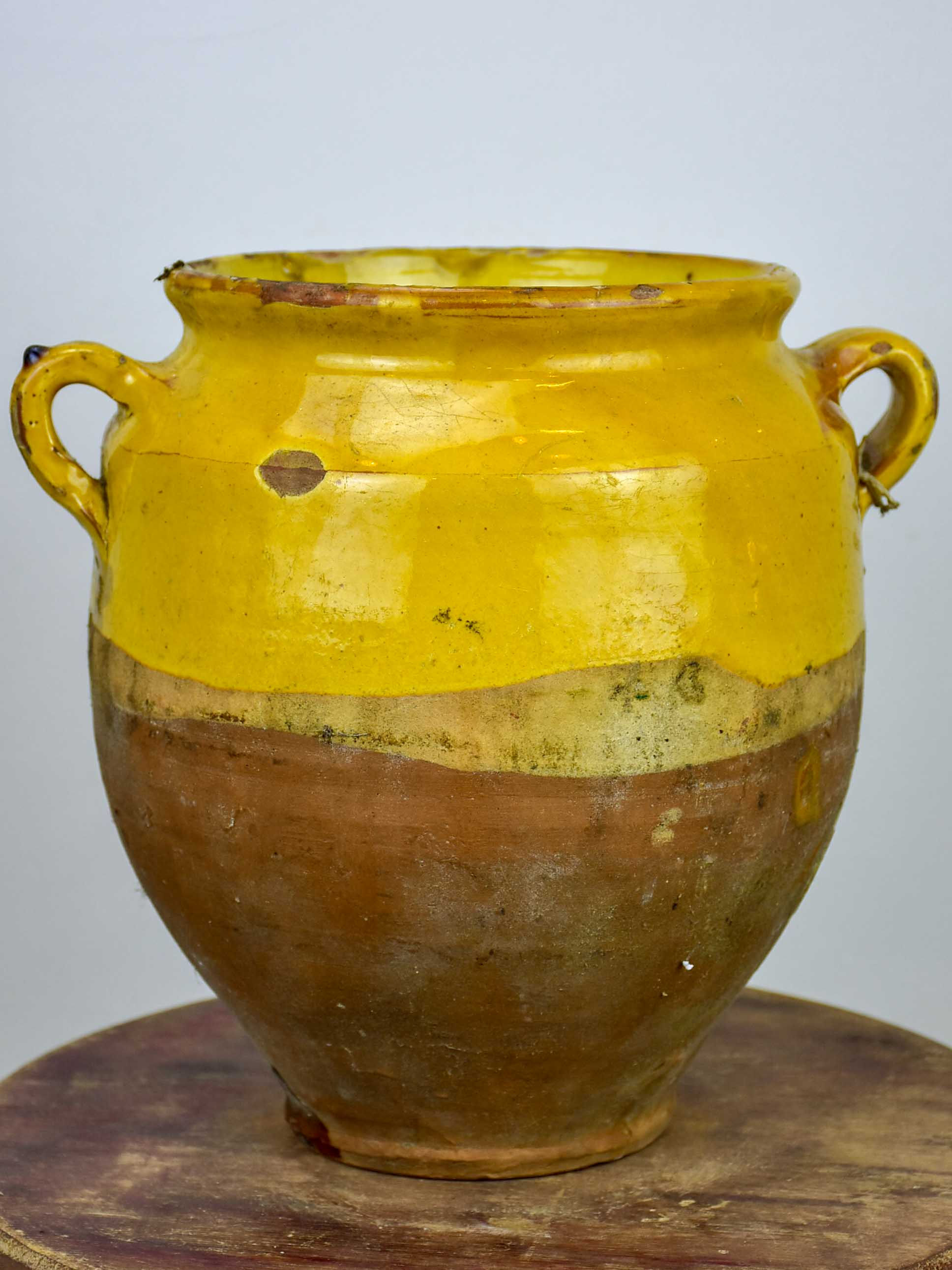 Antique confit pot from south west France - 10 ¾''