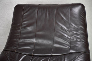 Very large vintage leather chair
