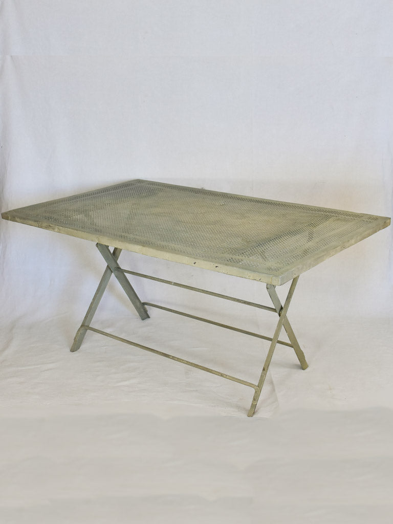 RESERVED SS Mid-century French iron garden table - folding