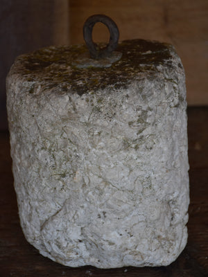 Antique stone counterweight - round