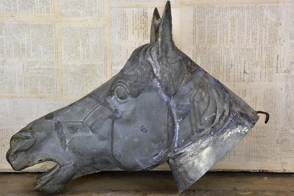 19th century French zinc horse head
