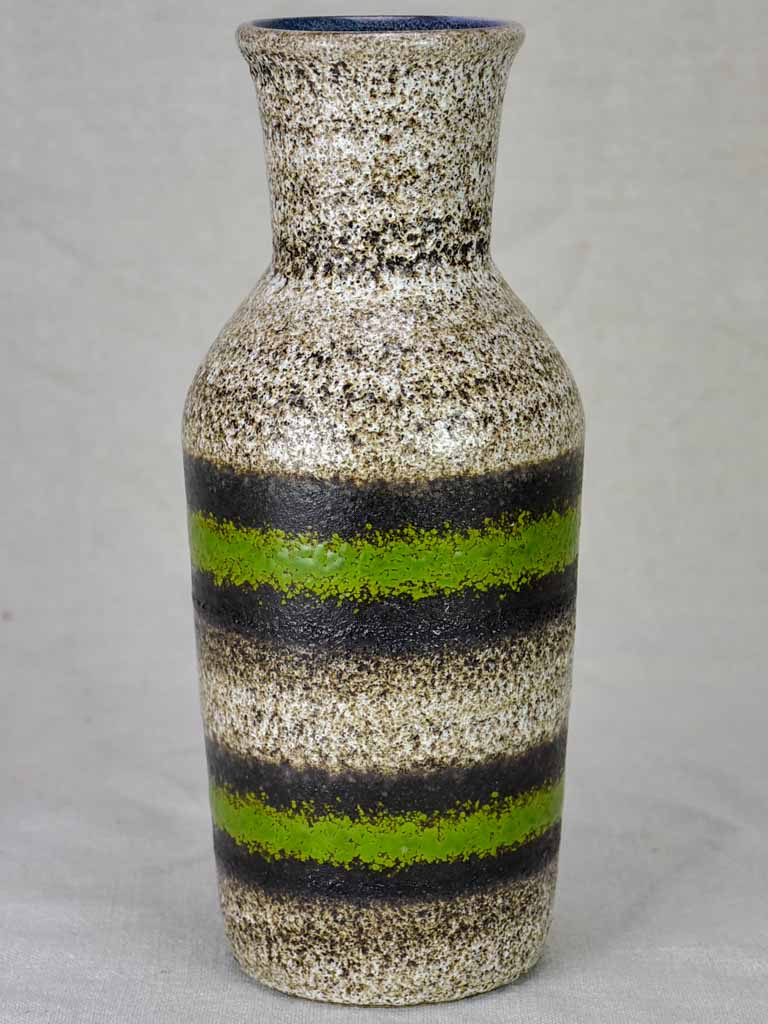 Modern vase - brown, green and black speckled 11¾""