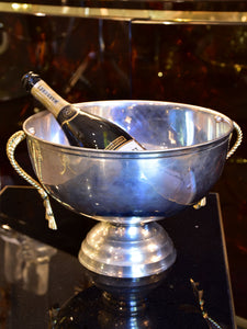 Vintage French champagne bucket with rope style handles