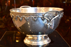 Vintage French champagne bucket with grape motifs