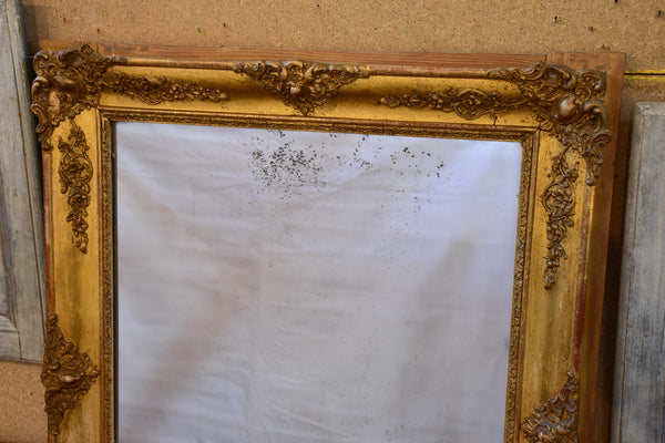 Antique French Louis XVI mirror with gilded frame
