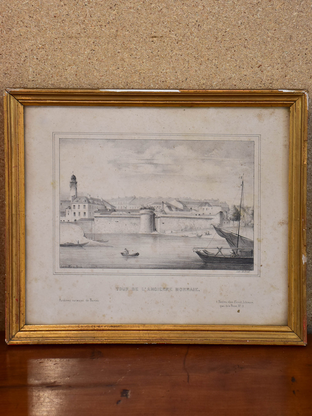 19th century French etching - Nantes