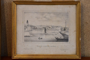 19th century French etching - Nantes 11 ¼'' x 9 ¾''