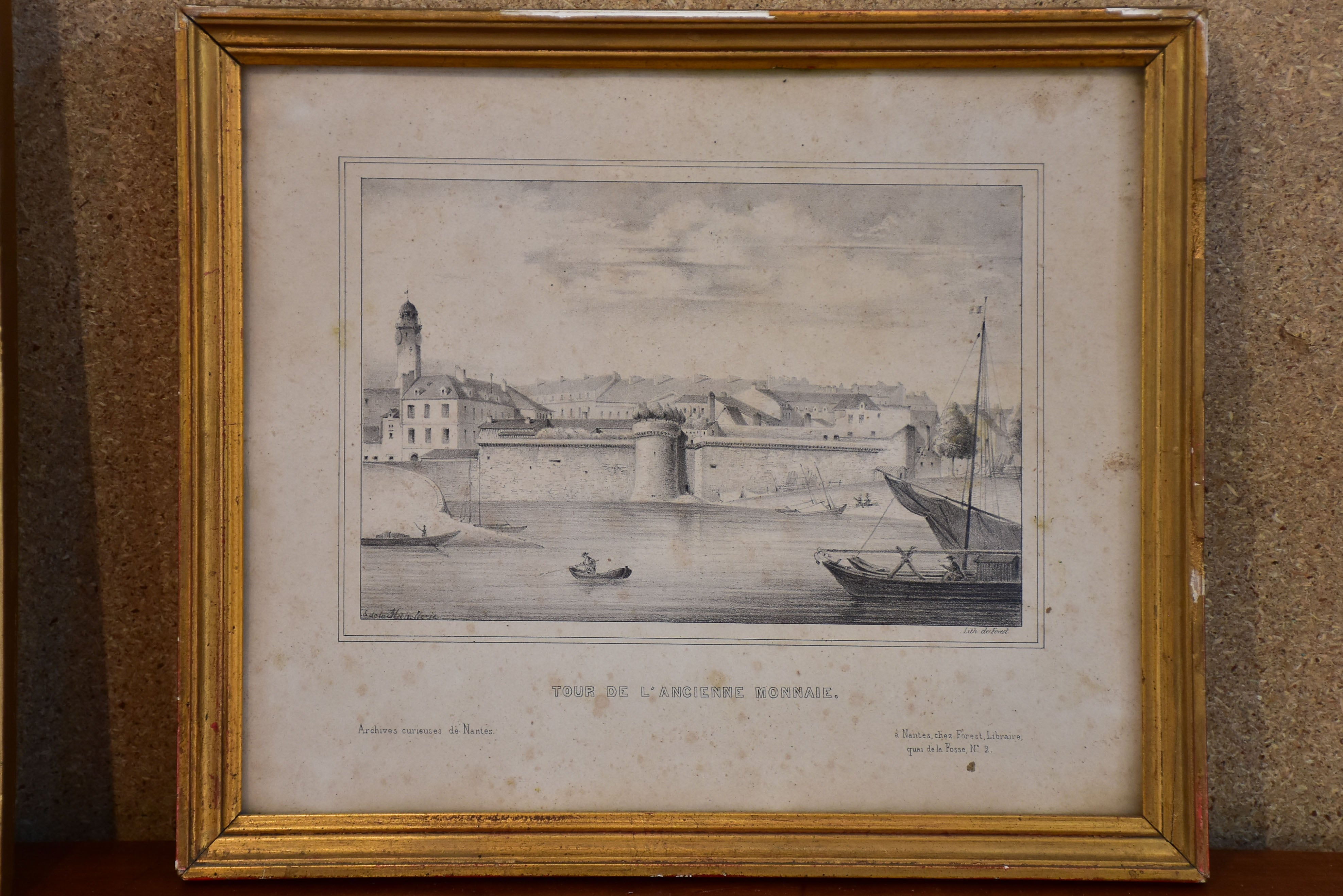 "Collection of four antique French etchings - 11"" x 9"""