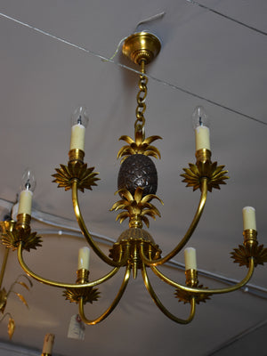 Vintage pineapple chandelier attributed to Maison Charles