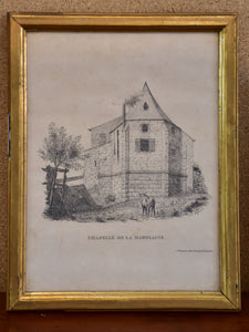 19th century French etching - Chapelle