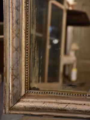 Large French Louis Philippe mirror with silver frame – 19th century
