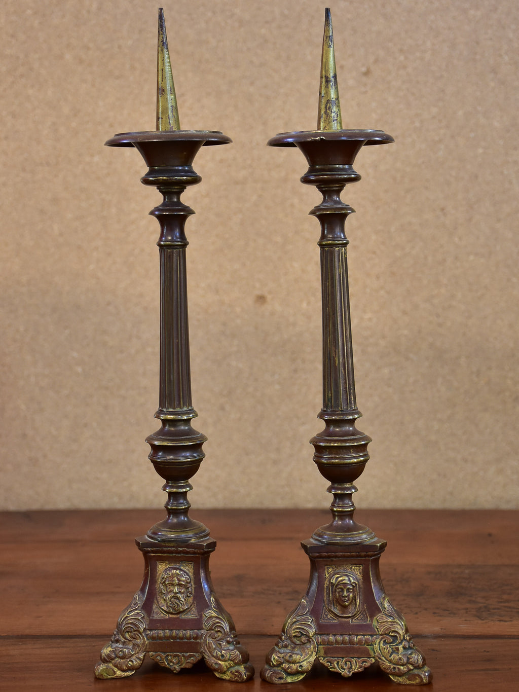 Pair of 19th century French church candlesticks