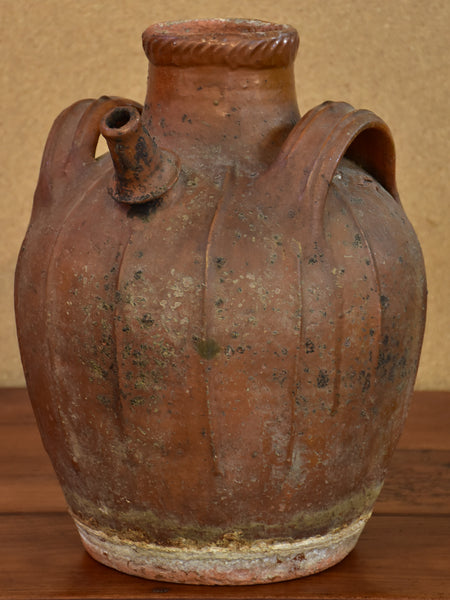 Antique French water jug from Auvergne