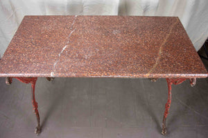 Antique French marble butcher's table