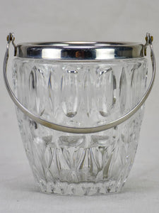 Vintage French ice bucket - glass