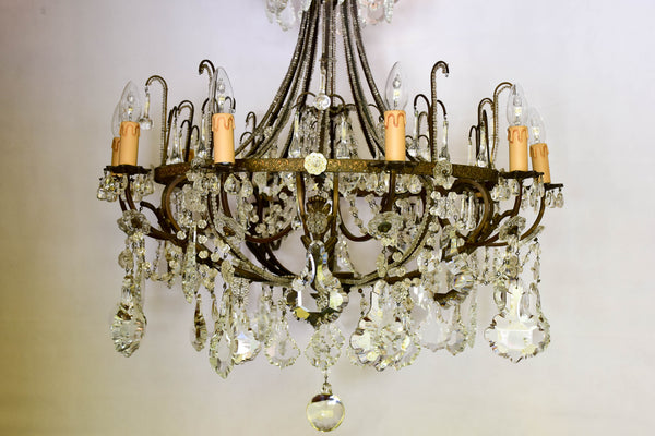 Italian crystal chandelier from the late 19th century