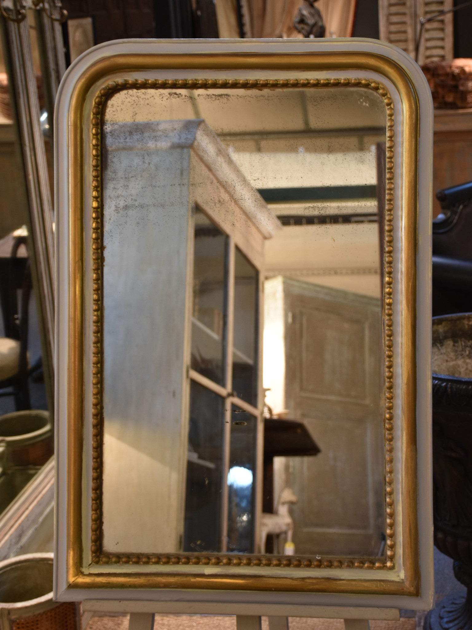 Grey and gold French Louis Philippe mirror – 1850's