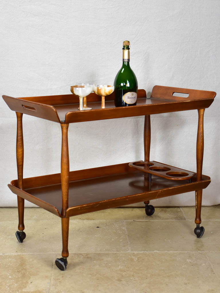 Superb wooden bar cart - 1960's