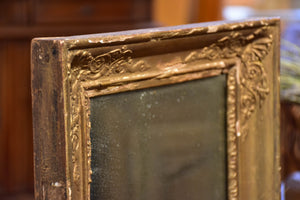 Small antique French mirror with gold frame