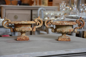 Pair of small antique French Medici urns