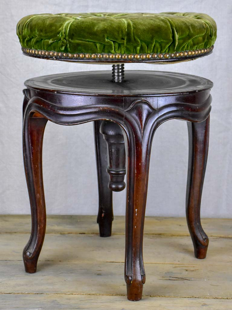 Napoleon III piano stool - adjustable