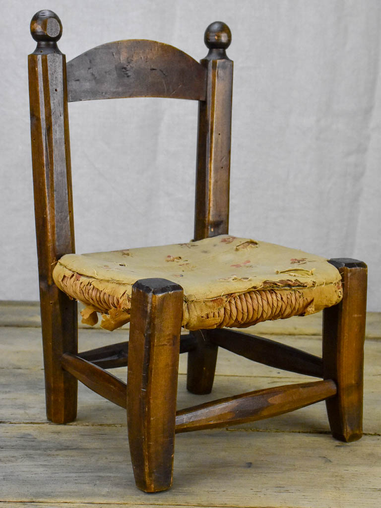 19th Century French doll's chair 14½""