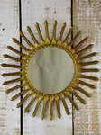"Original 1950's Chaty Vallauris sunburst mirror - 15"" diameter"