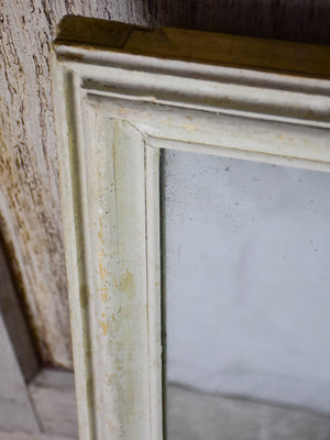Early 20th Century square mirror with beige timber frame and original glass 34¼""
