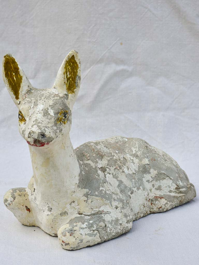 Mid century cement garden sculpture of a baby deer