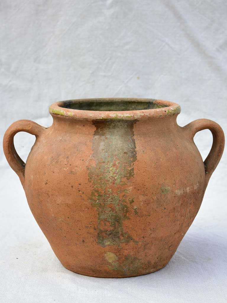 Rustic French clay preserving pot 8¾""