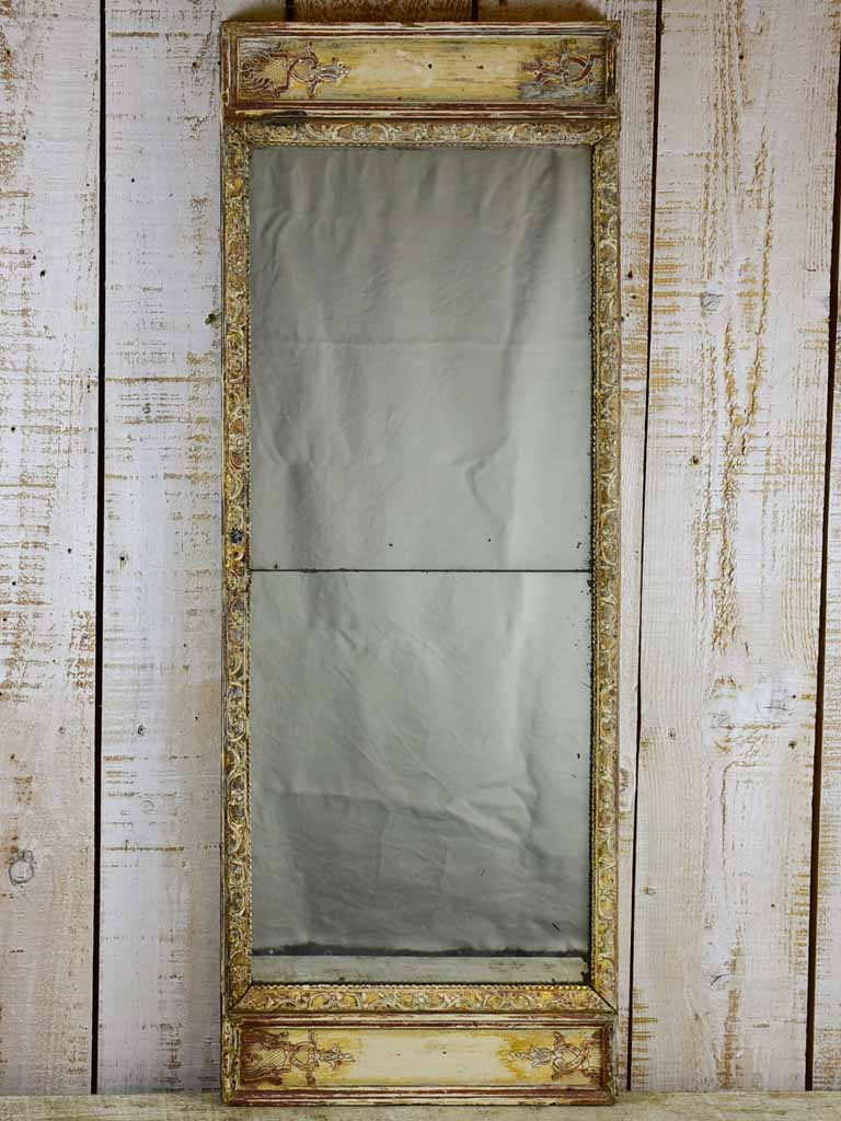 "18th Century Louis XVI mirror with two panels 17"" x 45¾"""