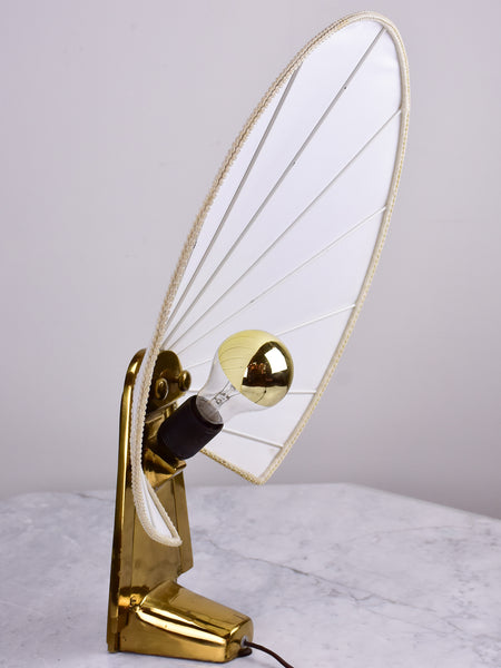 Vintage leaf lamp in the style of Antonio Pavia