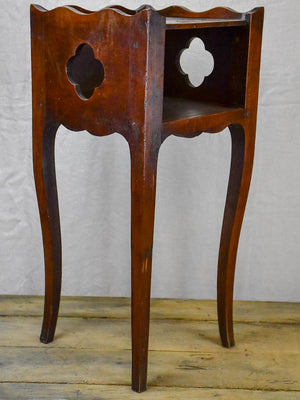 18th Century French nightstand - walnut