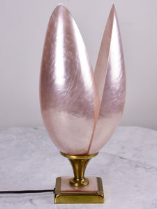 Pink Liane Rougier flower lamp 1970's