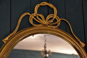 Round vintage French mirror
