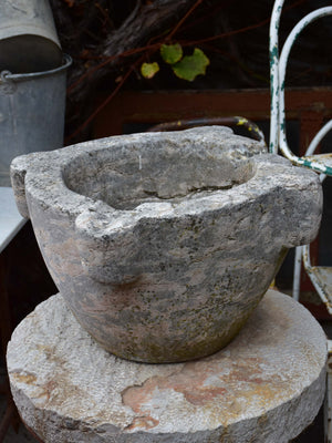Very large 19th century marble mortar