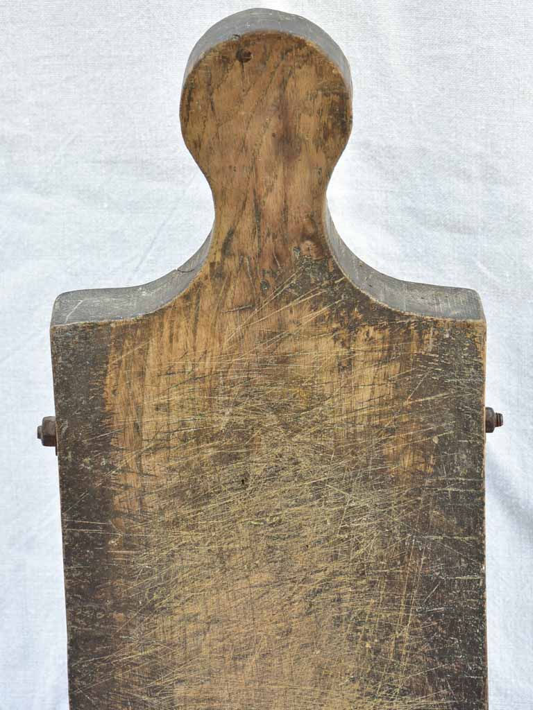 "Chunky antique French cutting board with bolts 24"" x  9"""