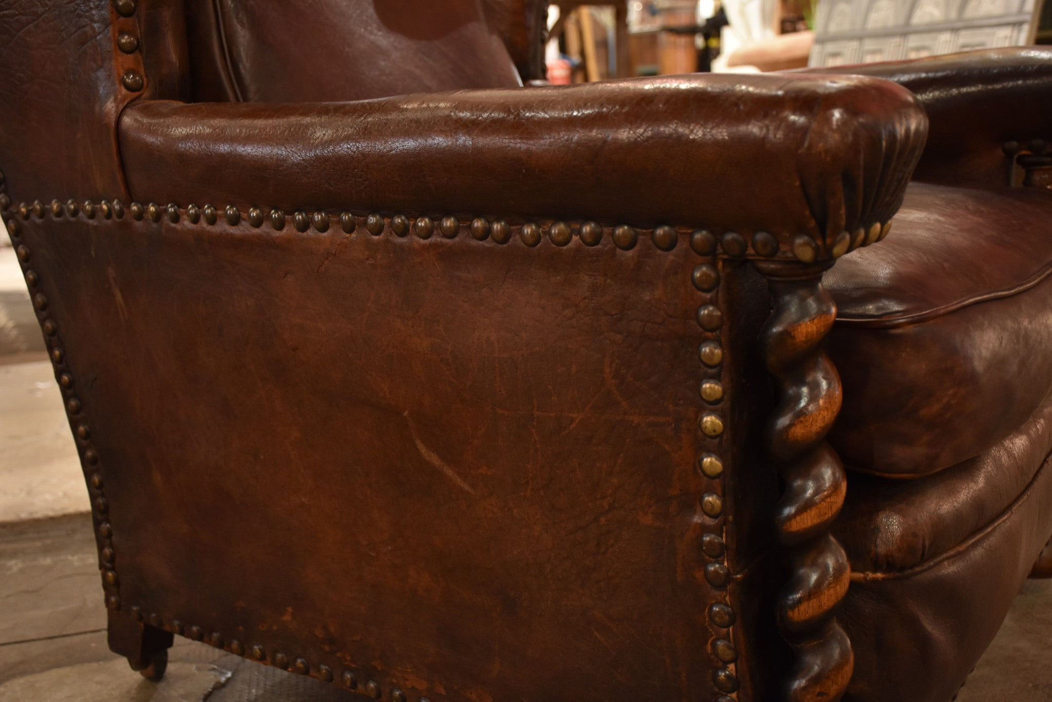 French leather club chair – 1920's