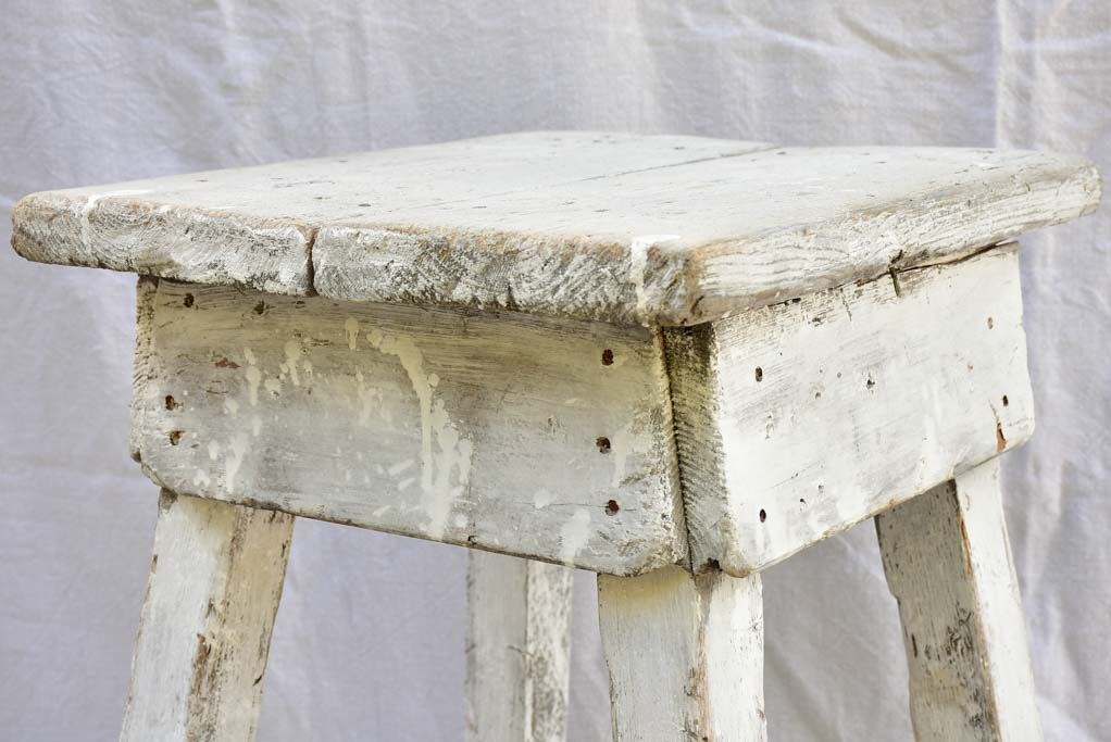 Antique French sculptor's table with beige patina 20½""