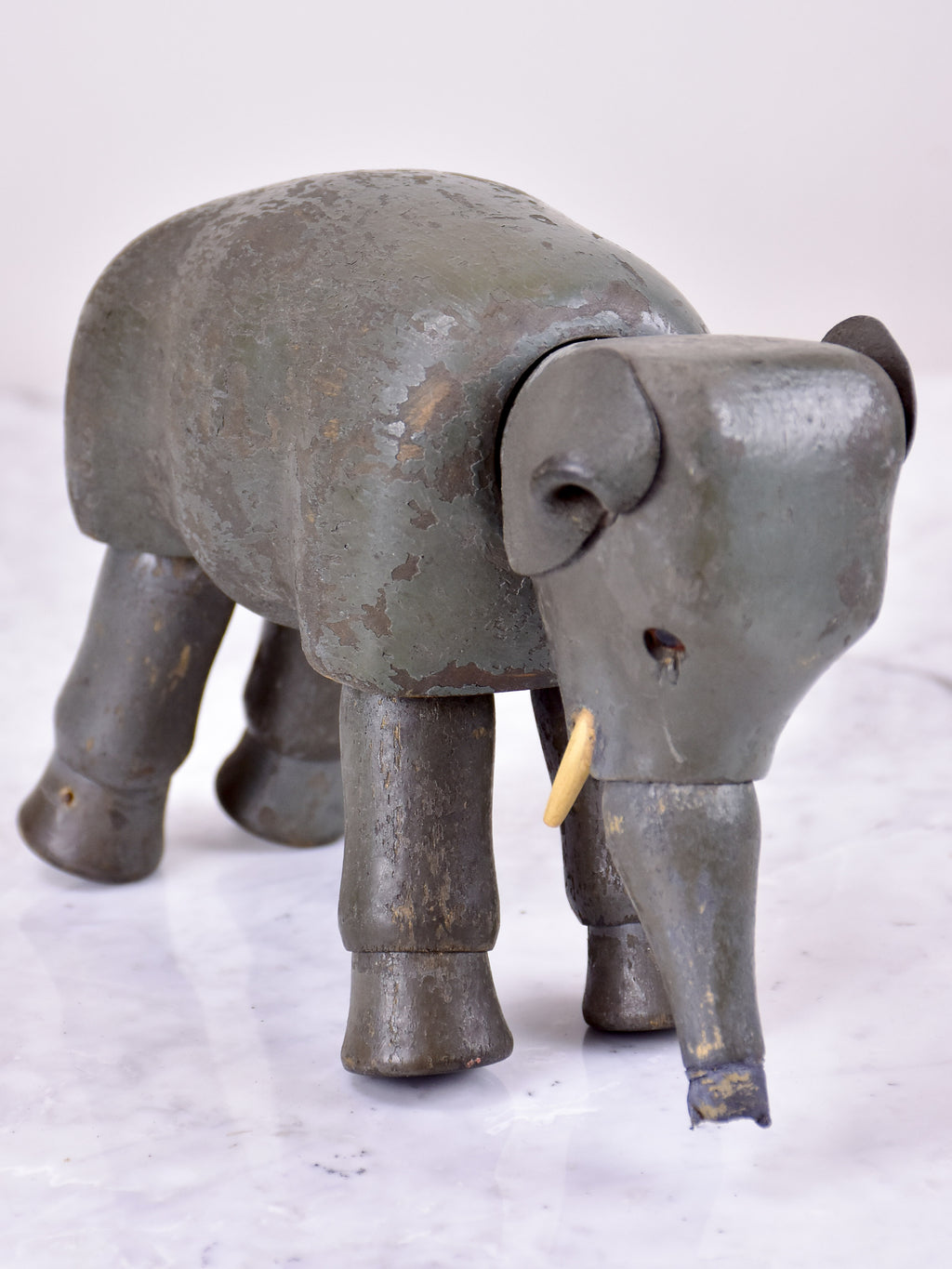 Antique French toy elephant - wooden