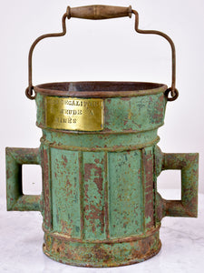 Antique French grain measuring bucket