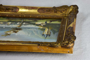 "Pair of nineteenth-century Swiss landscape paintings - oil on canvas 24"" x 18"""