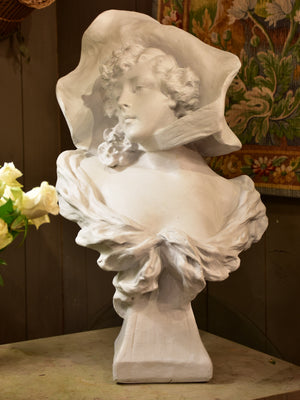 19th century French bust of a lady