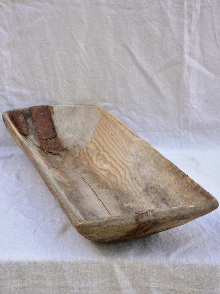 Large rustic primitive wooden trough 35""