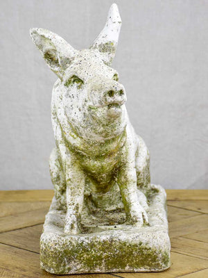 Vintage French sculpture of a pig