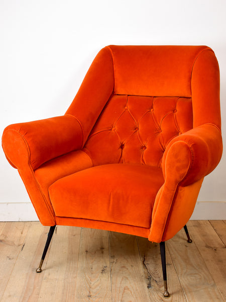1950's Italian armchair in the style of Paolo Buffa