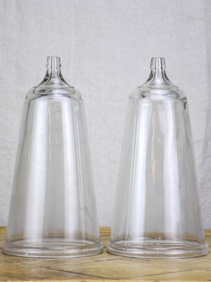 Pair of blown glass domes from the 1940's - apothecary 13½""