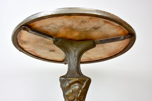 Antique French Art Nouveau bistro table
